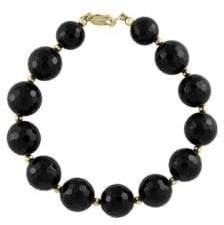 Effy Onyx and 14K Yellow Gold Beaded Bracelet