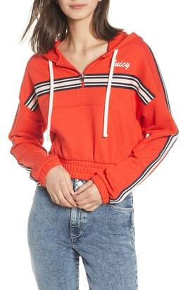 Juicy Couture Stripe Half Zip Hoodie