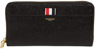 Thom Browne Patent Leather Zip Around Wallet
