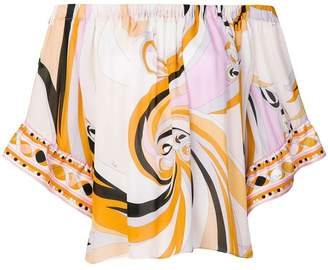 Emilio Pucci printed off-the-shoulder blouse