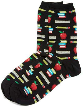 Hot Sox Women's Teacher's Pet Crew Socks