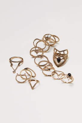 H&M 16-pack rings - Gold