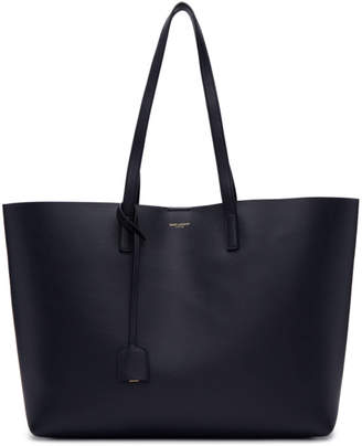Saint Laurent Navy East/West Shopping Tote