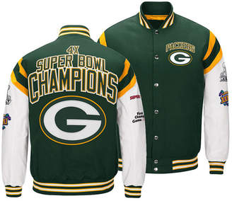 Authentic Nfl Apparel Men Green Bay Packers Home Team Varsity Jacket