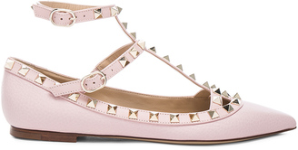 Valentino Rockstud Leather Cage Flats $995 thestylecure.com