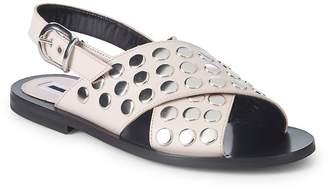 McQ Women's Metallic Leather Slingback Sandals
