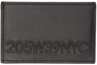Calvin Klein Black Embossed Logo Card Holder