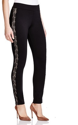 NYDJ Poppy Lace Trim Ponte Leggings $120 thestylecure.com