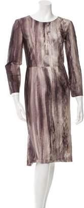 Philosophy di Alberta Ferretti Watercolor Sheath Dress