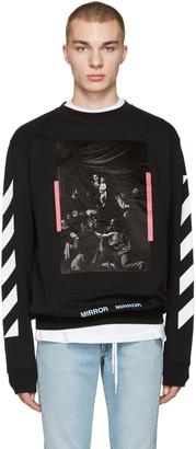 Off-White Black Diagonals Caravaggio Pullover $505 thestylecure.com