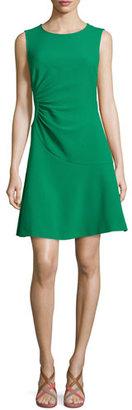 Diane von Furstenberg Dayna Crepe A-Line Dress, Emerald Sea $398 thestylecure.com