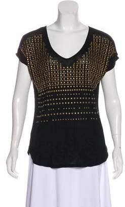 T-Bags LosAngeles Tbags Los Angeles Studded Knit Top