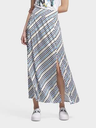 DKNY Geo-Print Maxi Skirt