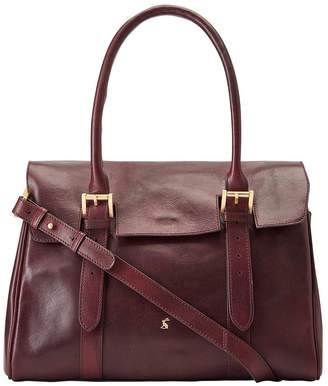 At Littlewoods Joules Oxblood Leather Tote Bag