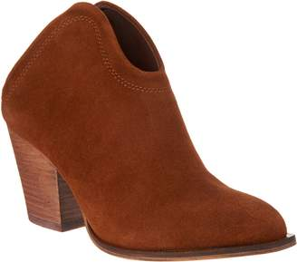 Chinese Laundry Open Back Split Suede Mule Bootie - Kelso