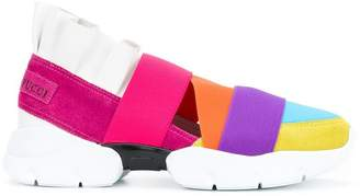 Emilio Pucci Colour block strap sneakers