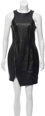 Nicholas Leather Mini Dress