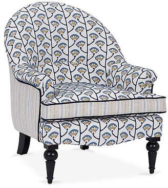 Kim Salmela Tatum Accent Chair - Indigo Tulip