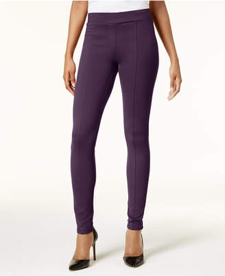 Style&Co. Style & Co Petite Ponte-Knit Seam-Front Leggings, Created for Macy's