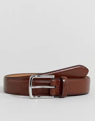 Ben Sherman Skinny Leather Belt Tan