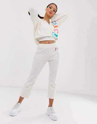 Juicy Couture gothic logo towelling cropped sweatpants