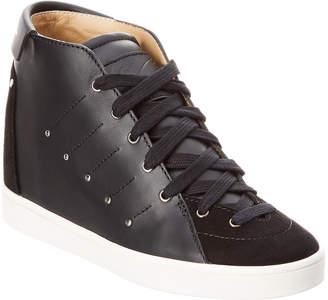 Giuseppe Zanotti Leather & Suede Wedge Sneaker
