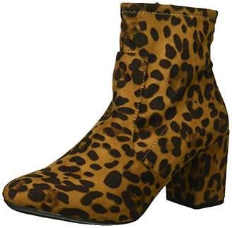 Rampage Women's Itsie Side Zip Block Heel Winter Ankle Stretch Bootie Boot
