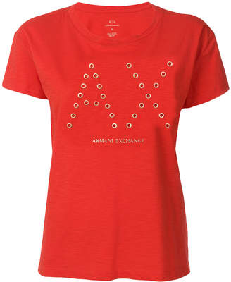 Armani Exchange eyelets T-shirt