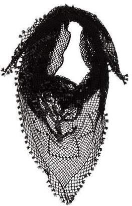 Dolce & Gabbana Knit Embellished Shawl