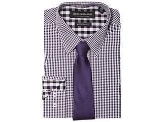 Nick Graham Mini Gingham Check Men's Clothing