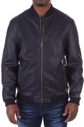 X-Ray Xray Men's XRAY Faux-Leather Varsity Jacket