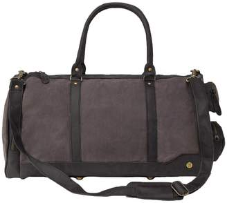 Mahi Leather Canvas Leather Columbus Holdall Bag In Grey