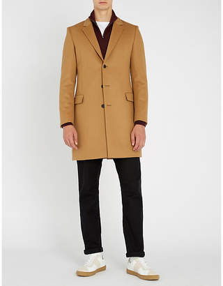 HUGO Single-breasted wool and cashmere-blend jacket