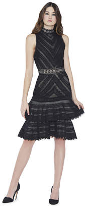 Alice + Olivia Azita Fit And Flare Tiered Dress