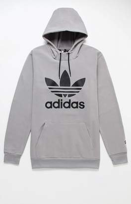 adidas Team Tech Fleece Gray Pullover Hoodie