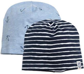 H&M 2-pack Jersey Hats - Blue