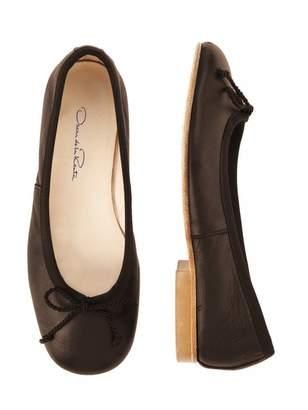 Oscar de la Renta Brown Leather Sabrinas