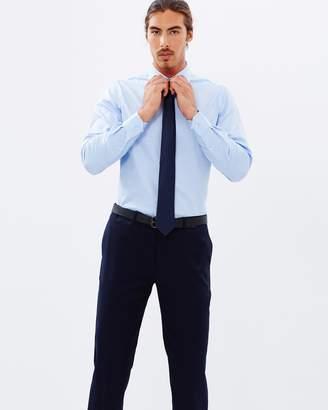 Brooksfield Textured Luxe Slim-Fit Single Cuff Shirt