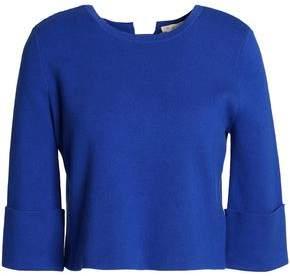 Maje Lace-Up Cotton-Blend Top