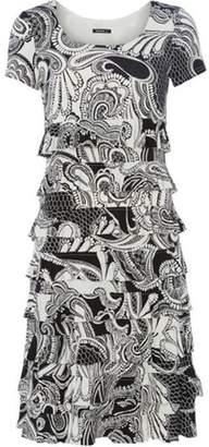 Dorothy Perkins Womens *Roman Originals Black Paisley Print Frill Dress