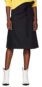 A PLAN APPLICATION Women's Cotton Twill Wrap Skirt - Navy
