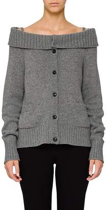 Prada Women's Off-The-Shoulder Wool-Cashmere Cardigan