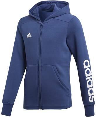 adidas YG Linear FZ HD Hooded Jacket, 4-15 Years