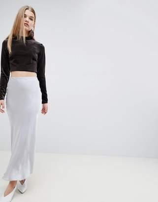 Asos Satin Maxi Skirt