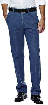 Haggar Men's Work-To-Weekend Hidden Expandable-Waist Plain-Front Pant