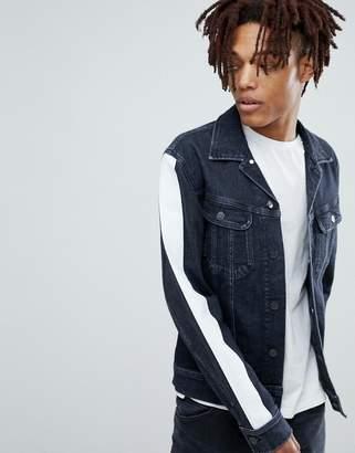 Lee Slim Rider Denim Jacket with Side Stripe Arms