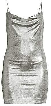 Alice + Olivia Women's Harmie Metallic Mini Dress