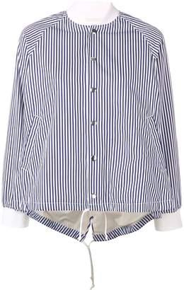 Comme des Garcons striped drawstring jacket