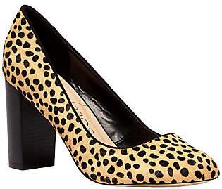 Sole Society Block Heel Pump - Giselle Leopard