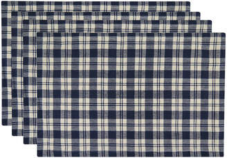 B. Smith METRO FARMHOUSE BY PARK Metro Farmhouse Set of 4 Plaid Placemats